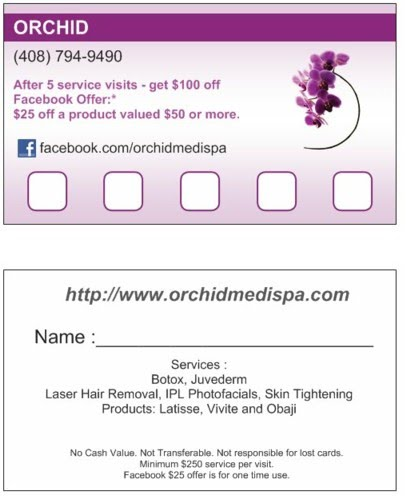 Orchid Favorite Client Card